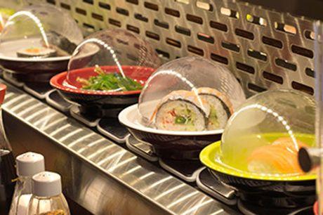 AARHUS C - Running sushi og dessert hos Restaurant Soya2 i Vestergade.
