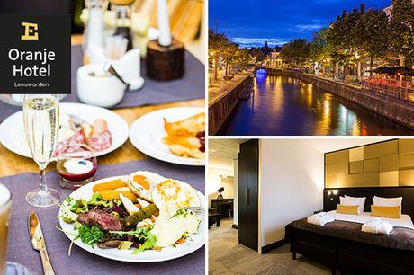 VIP-overnachting + ontbijt voor 2 in hartje Leeuwarden