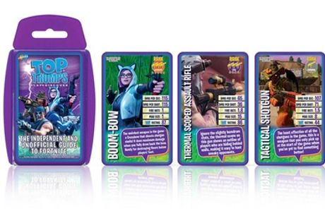 Winning Moves Top Trumps The Independent and Unofficial Guide to Fortnite Edition