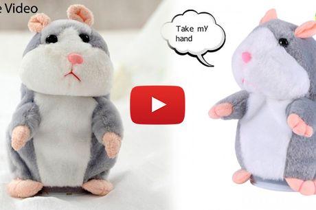 Underholdende hamster-bamse der gentager alt hvad du siger