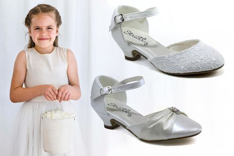 £14.99 (from Shoe Fest) for a pair of girl's kitten heel shoes - choose from satin and lace!