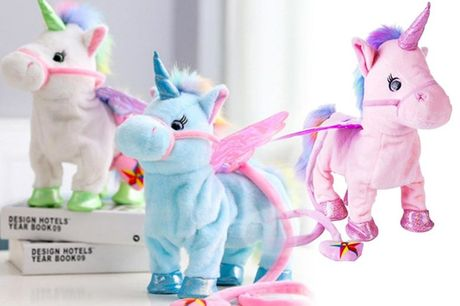 £14.99 instead of £49.99 for a cuddly unicorn toy from Pinkpree - choose from five colours and save 70%