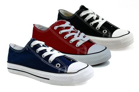 £8.99 (from Shoe Fest) for a pair of girls or ladies' trainers - choose from black, navy or red!