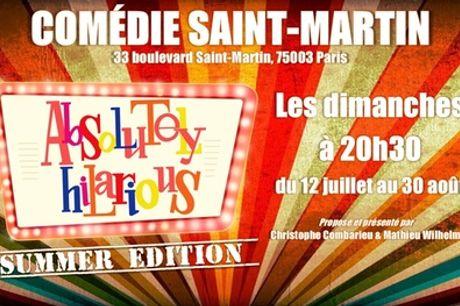 """1 place pour """"Absolutely Hilarious"""" à la Comédie Saint-Martin, date au choix, à Paris"""