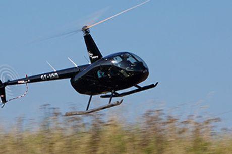 Helikoptertur med HeliCompany. Der flyves fra flere større byer i DK.