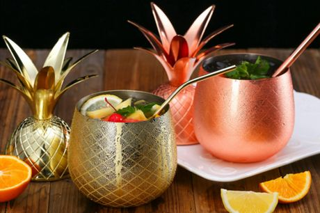 £14.99 (from My BluFish) for a stainless-steel pineapple mixing glass - choose from silver, gold or rose gold!