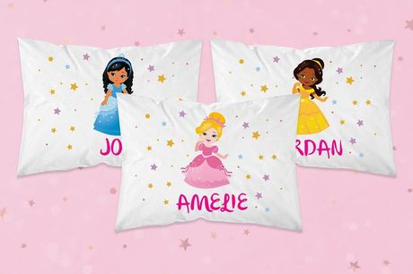 £3.99 (from Personalised Gifts Market) for one personalised princess pillowcase or £6.99 for two pillowcases!