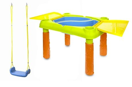 £15.99 for a kid's outdoor swing, or £29.99 for a sand and water play table from Avant Guarde Brands!