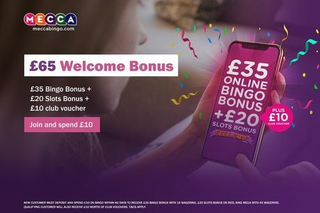 £2 for £65 Mecca bingo credit to spend at MeccaBingo.com - save 97%
