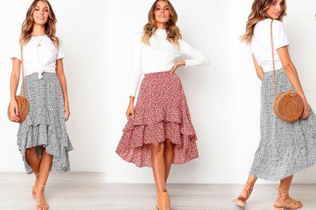 Stilfuld midi nederdel i elegant løst design