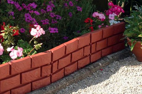£8.49 instead of £16.99 for a pack of four brick-effect garden border panels from Maison Maison - choose from Terracotta Brick or Heritage Grey colours and save 50%