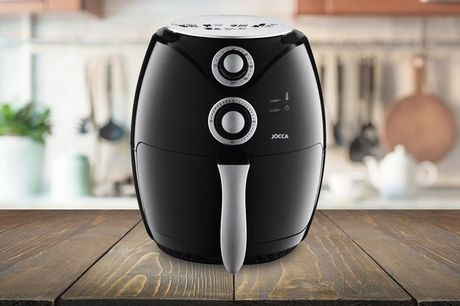 £64.99 for a 3.2L Jocca air fryer in black from Brockworth