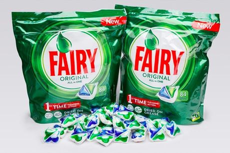 £12.99 for a pack of 84 Fairy Original All-In-One dishwasher tablets from GMS