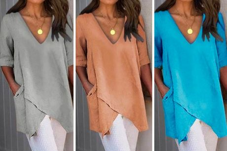 £7.99 for a women's blouse from Yello Goods - choose from five colours and UK sizes 10-24
