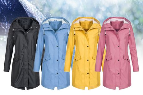£14.99 instead of £49.99 for a women's lightweight hooded waterproof raincoat from MBLogic - choose black, blue, green, pink or yellow and save 70%