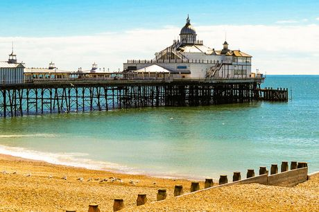From £49 (at Shore View Hotel) for an overnight Eastbourne getaway for two people with breakfast, early check in and late check out, from £69 for two nights, or from £69 for a family of four - save up to 59%