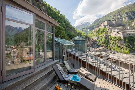 Italia Aosta - Hotel Ad Gallias 4* a partire da € 150,00. 4* a 100 metri dall'ascensore panoramico per il Forte