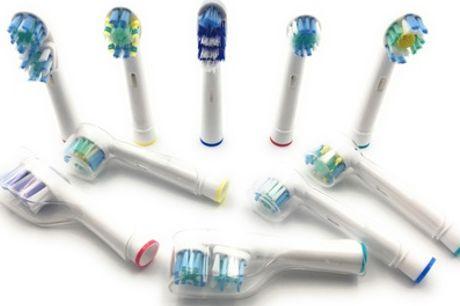 Pack de hasta 20 cabezales compatibles con cepillos de dientes Oral B y fundas protectoras