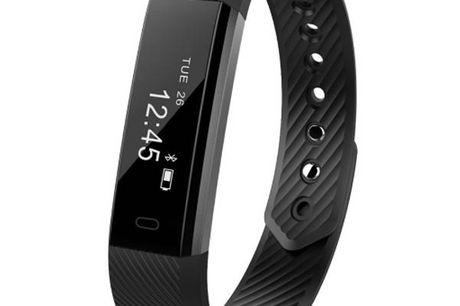 Sport Activity Tracker. Für Sportbegeisterte. Fitness Tracker müssen nicht teuer sein. Schrittzähler, zählt Schritte, Kalorien und Distanz. Alarm bei zu langem Sitzen. Schlafüberwachung. Kamerafernbedienung. Einfach zu bedienen.