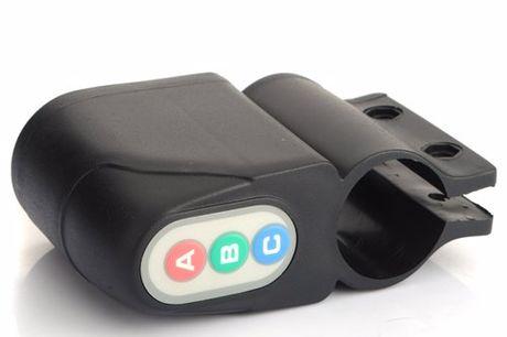 Alarme antivol vélo étanche 130dB. Capteur de mouvement détectant si quelqu'un touche ton vélo. Émet une alarme de 130 décibels. 12 mois d'autonomie de batterie. Résistante aux intempéries