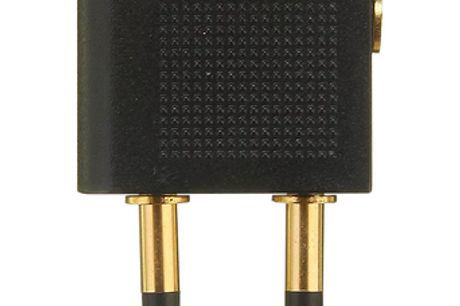 Adaptateur écouteur d'avion. Simple et facile à utiliser.Petit et compact. Facile à emporter n'importe où. Fabriqué à partir de matériaux de haute qualité. De couleur noire