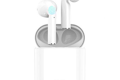 Casque intra-auriculaire sans fil. Compatible avec iOS et Android. Fonction de type frappe facile à utiliser pour votre commodité. Longue durée de vie de la batterie. Se connecte à votre téléphone portable via Bluetooth.