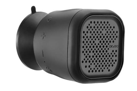 Haut-parleur Bluetooth sans fil. Possède la technologie TWS (True Wireless Stereo).Étanche et prend en charge les appels mains libres.Ventouse puissante, il est facile de coller sur n'importe quelle surface.A une portée de 10 mètres et une batterie longue