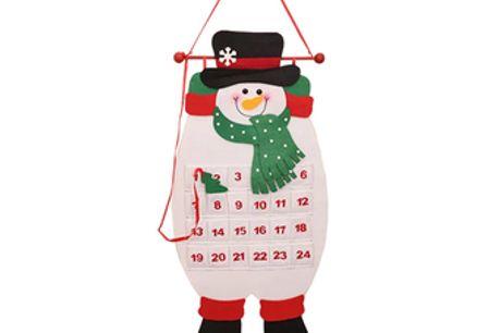 Hängender Weihnachts-Adventskalender mit Taschen. Zähle mit deinen Freunden und deiner Familie bis Weihnachten. Niedliche Zuhause- und Bürodekoration während der festlichen Jahreszeit. Ideal für Zuhause und Büro.