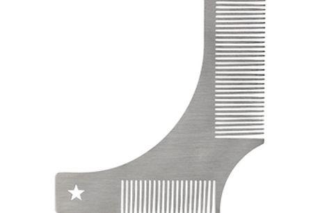 Edelstahl Bart Styling Vorlage. Da die beiden Seiten unterschiedlich groß sind, kannst du dch jetzt mühelos auf die gewünschte Länge rasieren. Dieser aus Edelstahl gefertigte Bartkamm hält bis zum letzten Haarausfall. Tragbar und leicht. Perfekt für die R