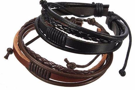 Leder Herrenarmband. Hippes Armband aus Rindsleder für jeden, der keinen Trends folgt, sondern sie selbst setzt. In zwei Farben verfügbar - Schwarz und Braun