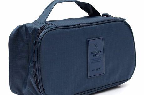 Aufbewahrungstasche für Dessous. Praktisches Reisetäschchen für Unterwäsche, Kosmetika und Toilettenartikel. Unentbehrlich auf Reisen, beim Backpacking oder Campen. Leichtgewichtig. In sechs Farben verfügbar.
