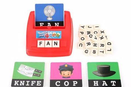 Englisches Buchstabier-Spiel Set für Kinder. Verwandle das Lernen in ein lustiges Puzzlespiel für deine Kinder. Niedliche und farbenfrohe Piktogramme werden die Aufmerksamkeit deines Kindes erregen. Tolles Geschenk für Freunde und Verwandte, die Kinder ha
