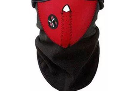 Stylische Unisex Gesichtsmaske aus polarem Fleece. Halte dein Gesicht, Kopf und Nacken warm, wenn du in diesem Winter durch die Stadt fährst. Ideal für Motorradfahrer, Radfahrer, Skifahrer, Wanderer und andere Wintersportler. Langlebiges Material ist weic