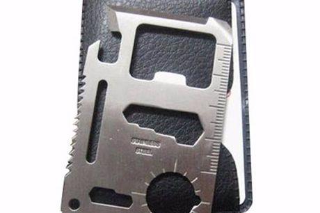 Ultimate Survival Creditcard Maar liefst 11 functies. Eenvoudig mee te nemen in uw portemonnee. Gemaakt van roestvrij staal. Geleverd inclusief beschermhoes.