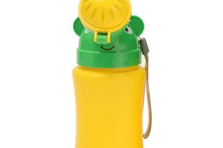 Draagbaar Kinderplaspotje Lekvrij en geurloos design. Bevat twee verschillende mondstukken voor jongetjes en meisjes. Eenvoudig en makkelijk te gebruiken.  Maakt het leven van ouders makkelijker.