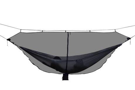 Hamac Double Extérieur avec Moustiquaire. Hamac double 3,4x1,4m avec moustiquaire en nylon durable, idéal pour le camping et la randonnée en plein air. Protégez-vous contre les insectes agressifs pendant que vous dormez sous le ciel nocturne.