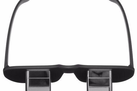 Lunettes Prisma Horizontales. Les lunettes du futur. Empêche toute blessure inutile au cou ou à la colonne vertébrale. Peut être utilisé à l'intérieur et à l'extérieur.