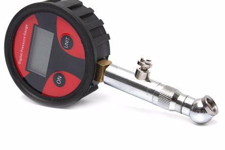 Digitaler Reifenluftdruckmesser. Vermeide unnötigen Benzinverbrauch. Verlängere die Lebensdauer deiner Reifen. Inklusive4 zusätzlichen Ventilkappen und 2 Verschlüsse