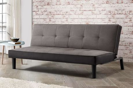 £129 instead of £349 for a minimalist contemporary grey fabric sofa bed from FTA Furnishing - save 60%