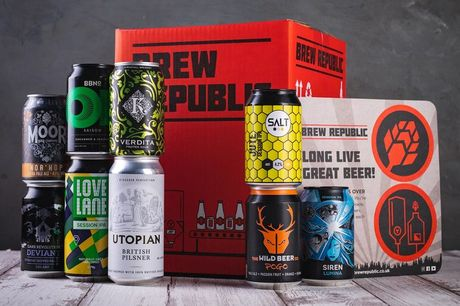 £15 for a discovery taster case of nine craft beers from Brew Republic