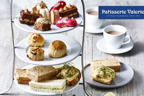 Standard or Sparkling Afternoon Tea for Two at Patisserie Valerie, Various Locations (24% Off*)