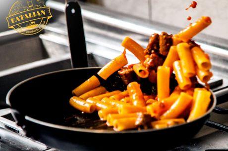 Spar 15% i aften: Hos Eatalian kan du nyde en autentisk italiensk middag i deres lille hyggelige restaurant, hvor servicen er helt i top. Bestil via R2N og få rabat på både mad og drikke.