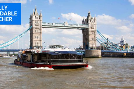 £11 -- London: 24-hour hop-on, hop-off Thames cruise ticket