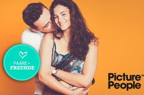 PAAR-/ FRIENDS-Fotoshooting inkl. Make-up und 3-4 Bildern bei PicturePeople (bis zu 76% sparen*)