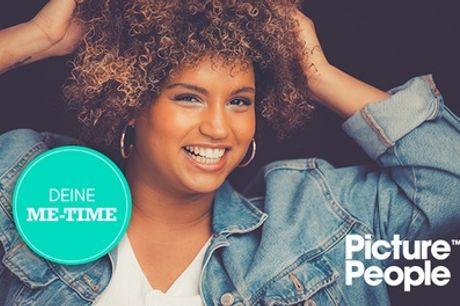 Für Mich-Fotoshooting-Erlebnis bei PicturePeople + Make-up und 3-4 Bilder als Ausdruck & Datei (bis 76% sparen*)