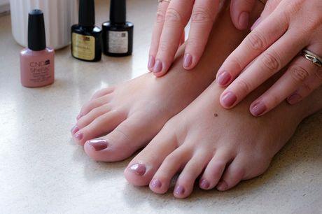 Mani-/pedicure med Shellac. Pæne negle i ugevis - nyd at vise hænder og fødder frem