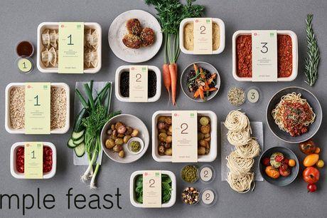 25% på 4 ugers Simple Feast. Økologiske måltidskasser fyldt med smag