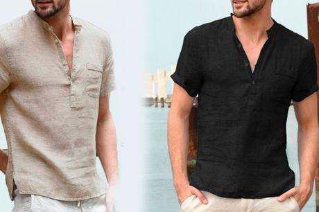 Behagelig åndbar skjorte i stilfuldt kortærmet design