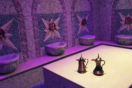 Moroccan Bath Spa Package for One or Two, or for Three with Jacuzzi Access at Hammam Spa