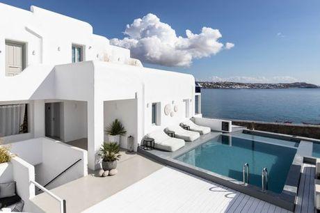 Grecia Mykonos - Nimbus Mykonos a partire da € 207,00. Struttura di lusso sulla spiaggia di Agios Stefanos